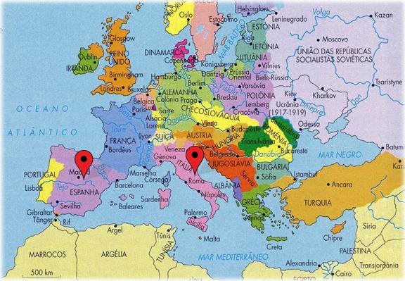 De Roma à Espanha