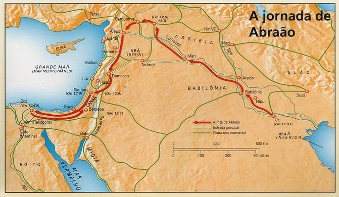 A jornada de Abraão de Ur à Canaã