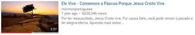 Acessos do filme mórmon Ele Vive