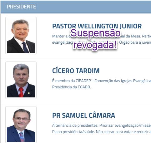 Tribunal de Justiça de Goiás revoga suspensão da candidatura de Pr. José Wellington!