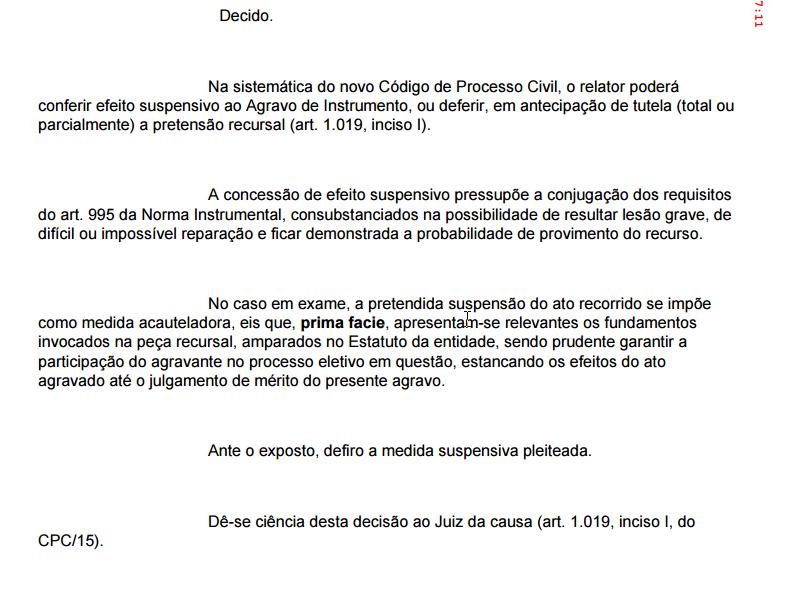 Tribunal de Justiça de Goiás - Revogação da Suspensão